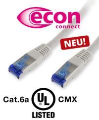 Neu im Sortiment – Patchkabel Cat.6a UL-Listed CMX